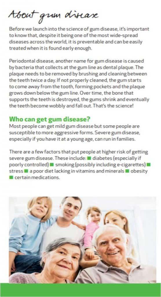 BSP gum health leaflet