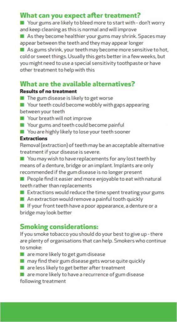 BSP Treatment for gum disease