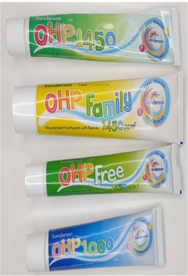 SAnderson OHP toothpaste
