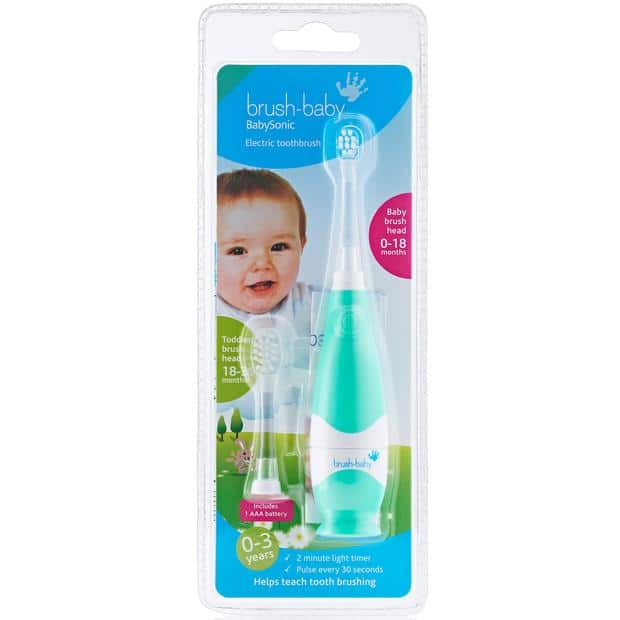 Brush-Baby Babysonic Replacement Electric Toothbrush Heads 0-18 Months