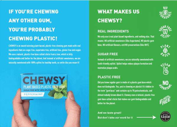 Chewsy plastic free gum