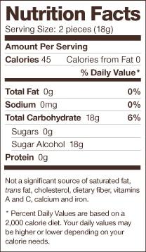 Dr Johns Lollipops Nutrition