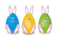 Easter Bunny Eggs Image