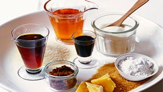 an image showing different types of sugars