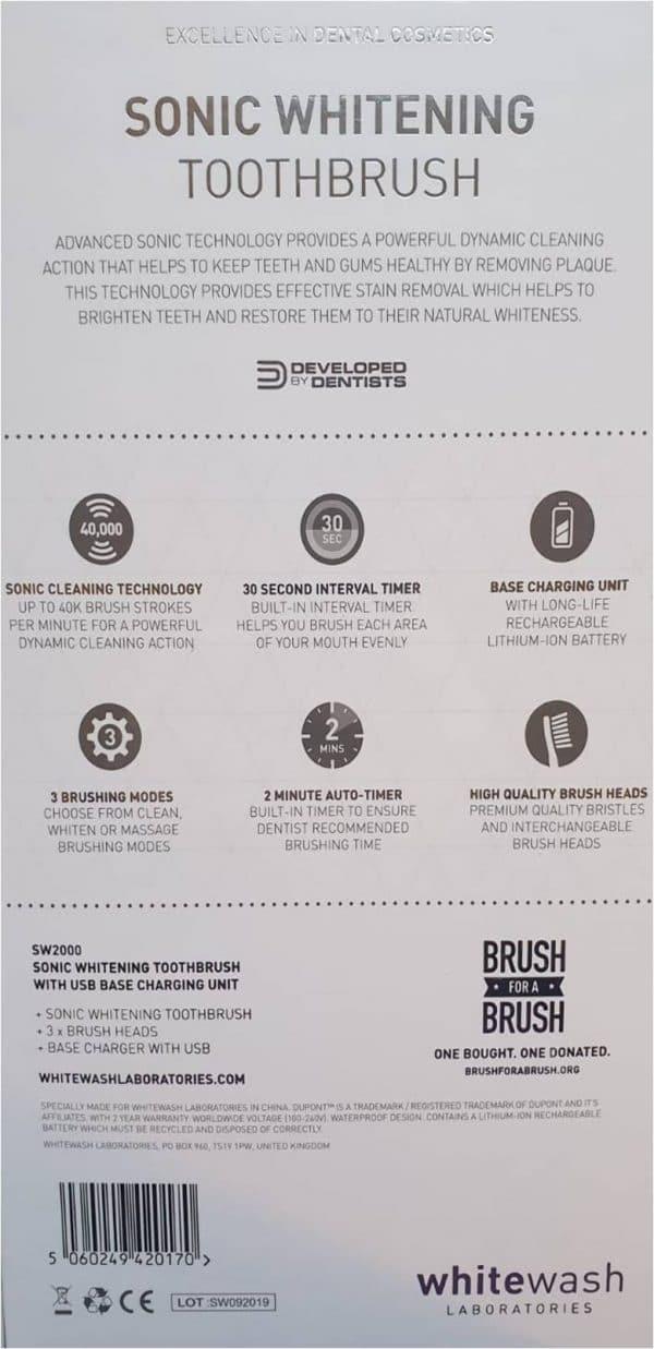 sonic whitening toothbrush